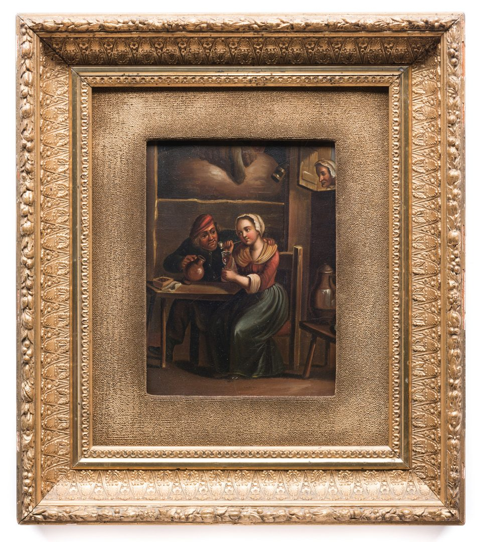 Lot 620: Pair of Continental Genre Paintings