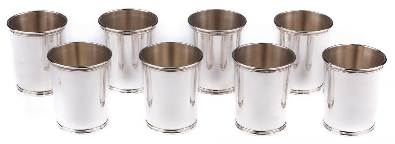 Lot 62: 8 Mark Scearce JFK Sterling Julep Cups