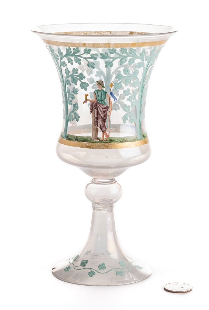 Lot 633: Enameled Goblet w/Classical Figures