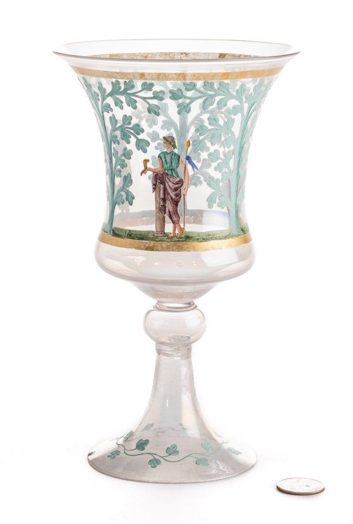 Lot 633: Enameled Goblet w/Classical Figures