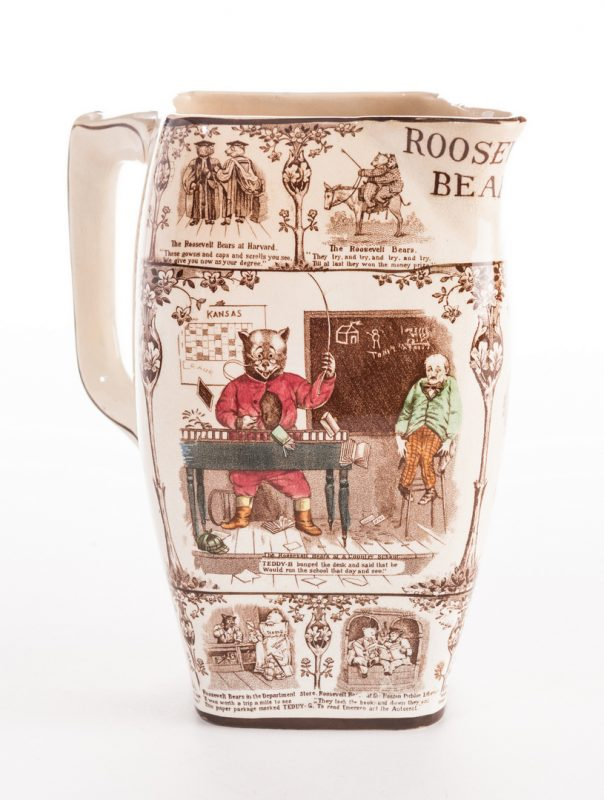 Lot 638: Roosevelt Bears Porcelain Jug or Pitcher