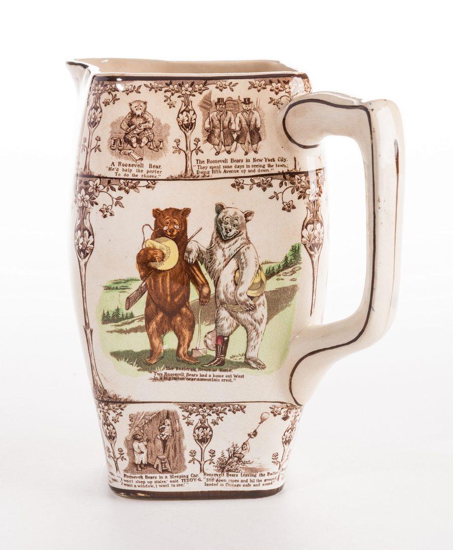 Lot 638: Roosevelt Bears Porcelain Jug or Pitcher