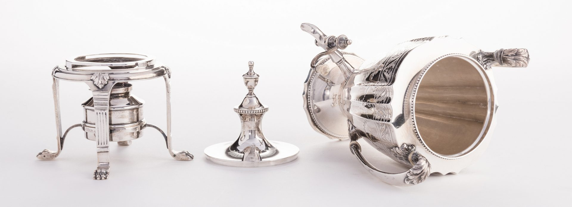 Lot 63: Sterling Tea Service, 7 pcs inc Sterling Tray