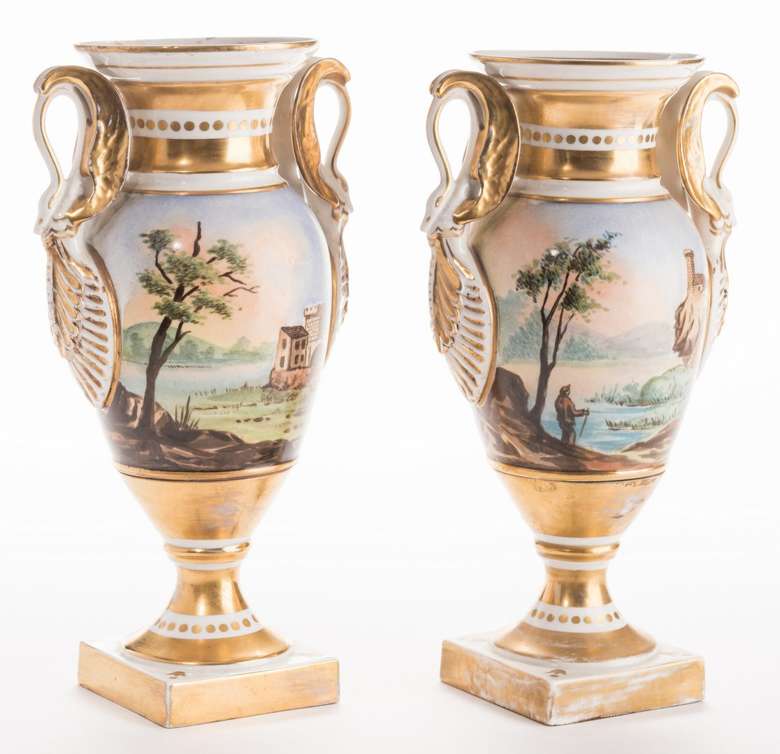 Lot 642: Pair French Porcelain Urns