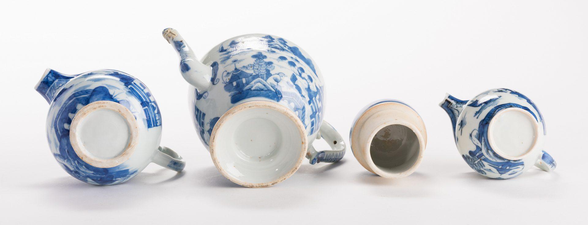 Lot 645: Canton Partial Tea Set & more, 42 pcs