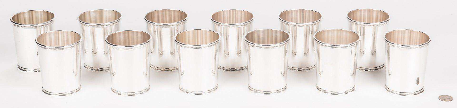 Lot 64: 12 Scearce Presidential Sterling Julep Cups