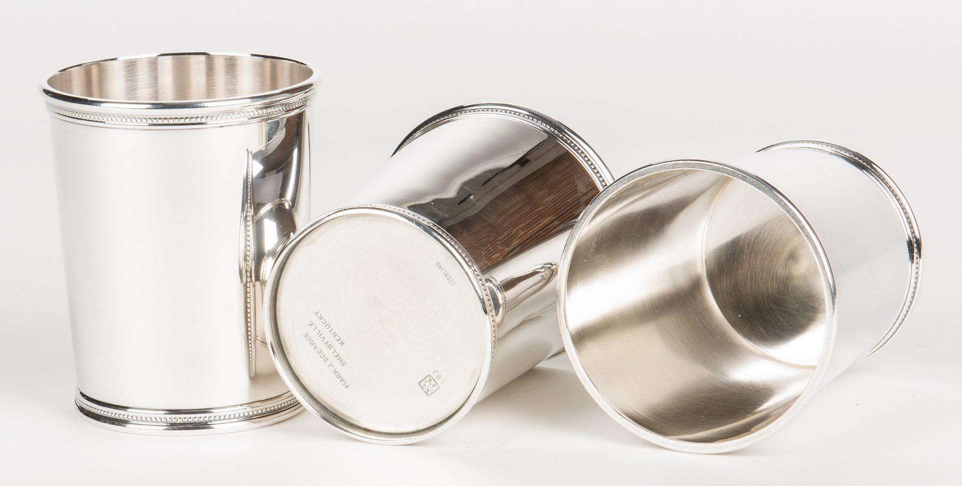 Lot 64: 12 Scearce Presidential Sterling Julep Cups