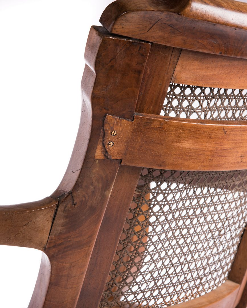 Lot 653: Anglo-Indian or Ceylonese Arm Chair