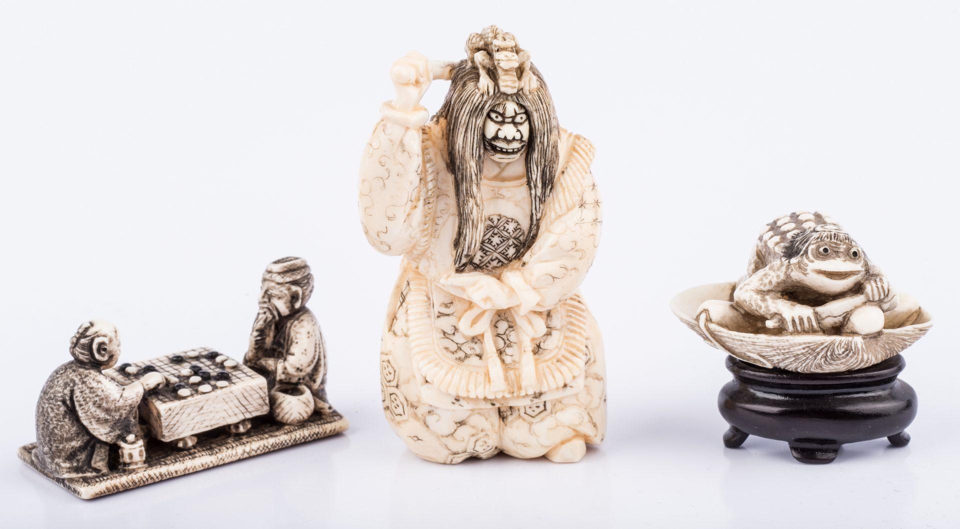 Lot 657: 9 Ivory Netsukes