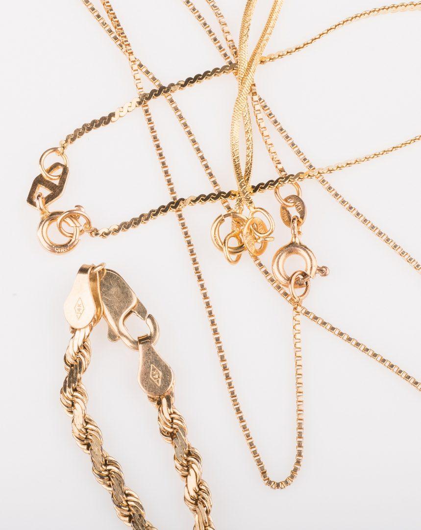 Lot 672: 4 14K necklaces, 21.4 grams