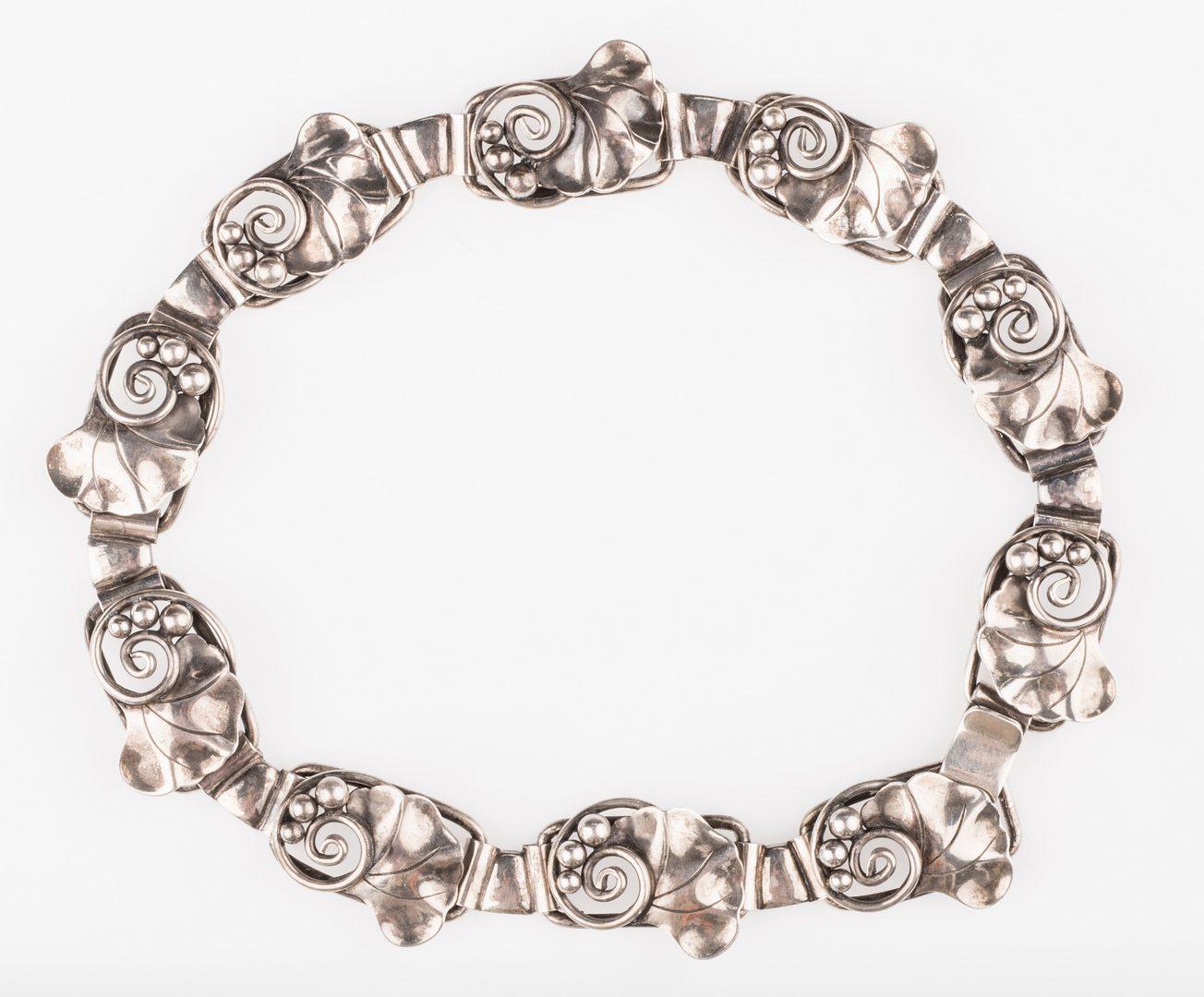 Lot 679: Lot Georg Jensen USA & LaPaglia Jewelry, 6 pieces