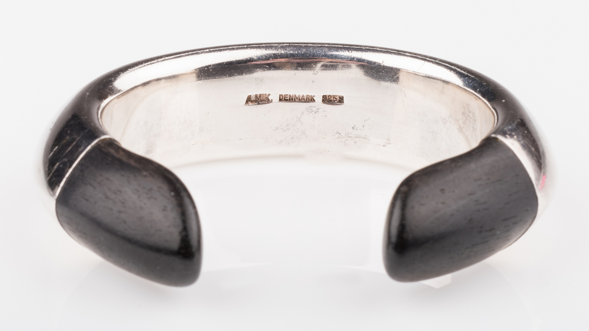 Lot 680: Andreas Mikkelsen Sterling Ebony Cuff Bracelet