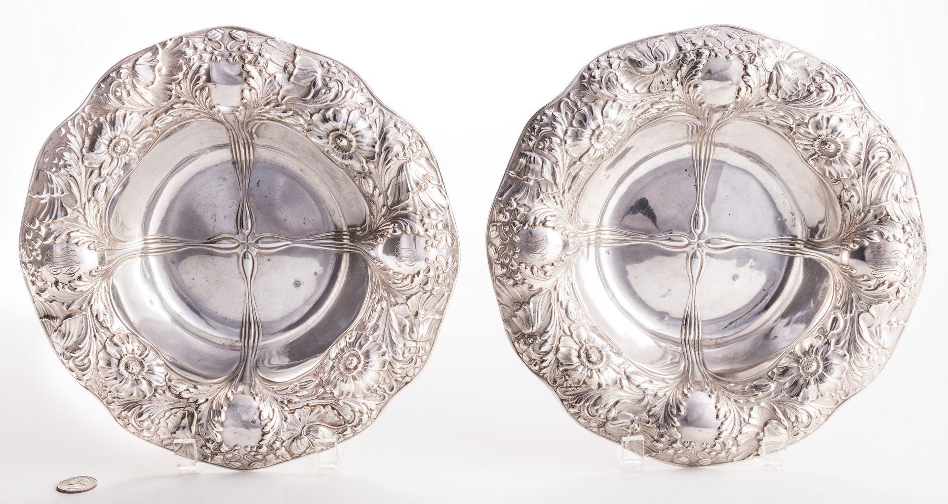 Lot 685: Pr. Black Starr & Frost Repousse Serving Bowls