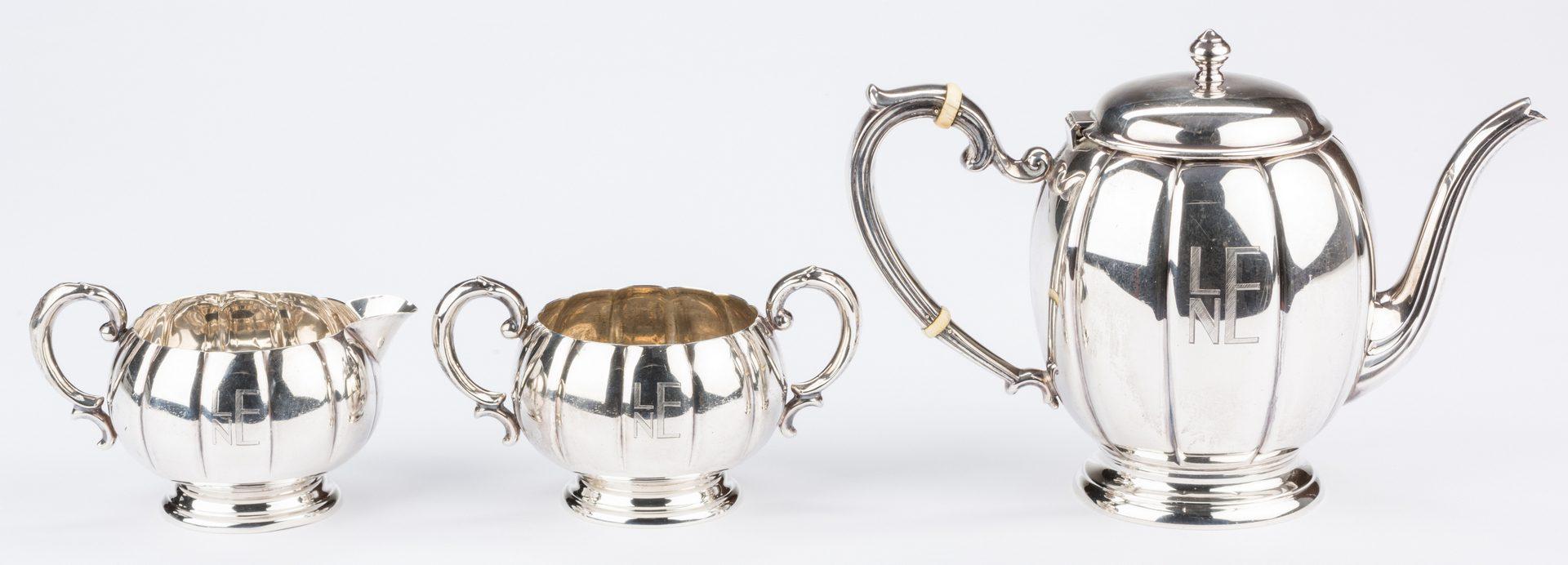 Lot 687: Watson Co. Sterling Tea Set, 3 pcs