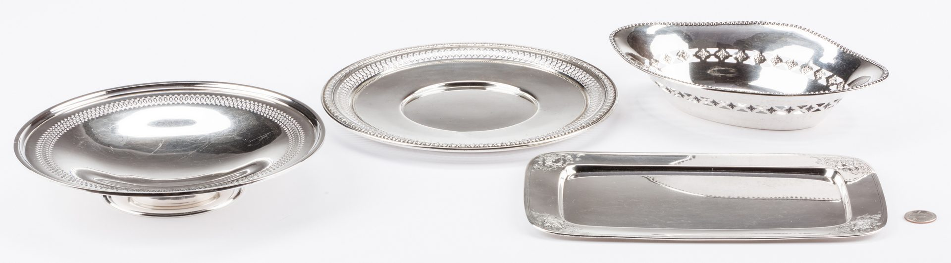 Lot 690: 4 Silver Serving Items, inc. Sterling