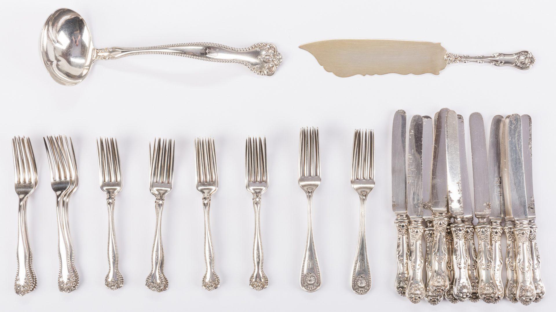 Lot 693: Vintage Sterling Flatware and Serving Pieces, 38 pcs