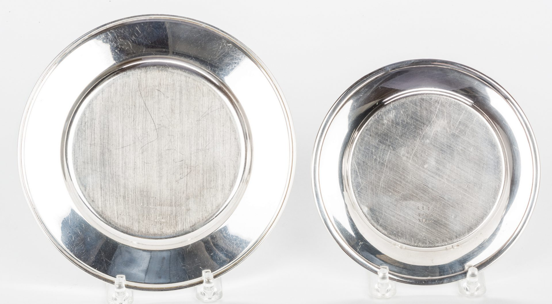 Lot 698: 13 Sterling Silver Bread Plates, inc. Towle