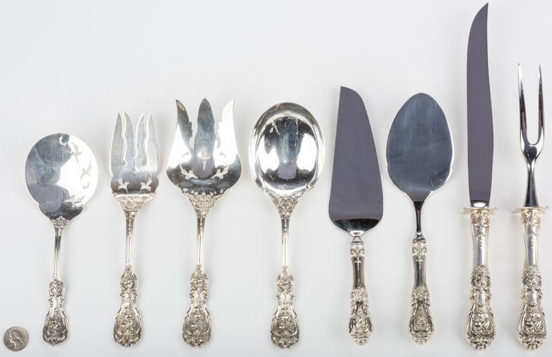 Lot 701: Francis I Serving Flatware, 8 pcs