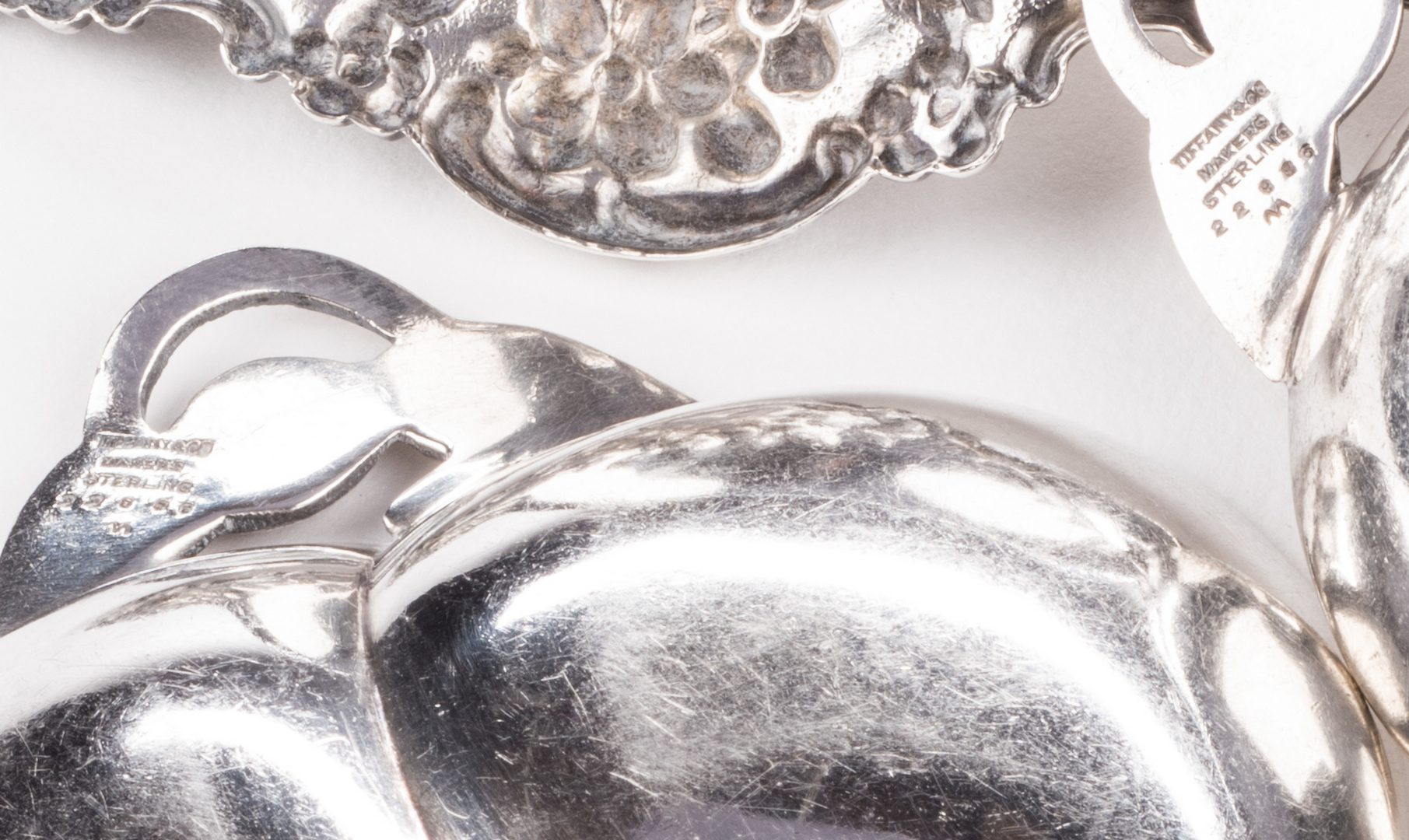 Lot 702: 9 Pieces silver inc. Tiffany and Cased Sterling Shell Dish