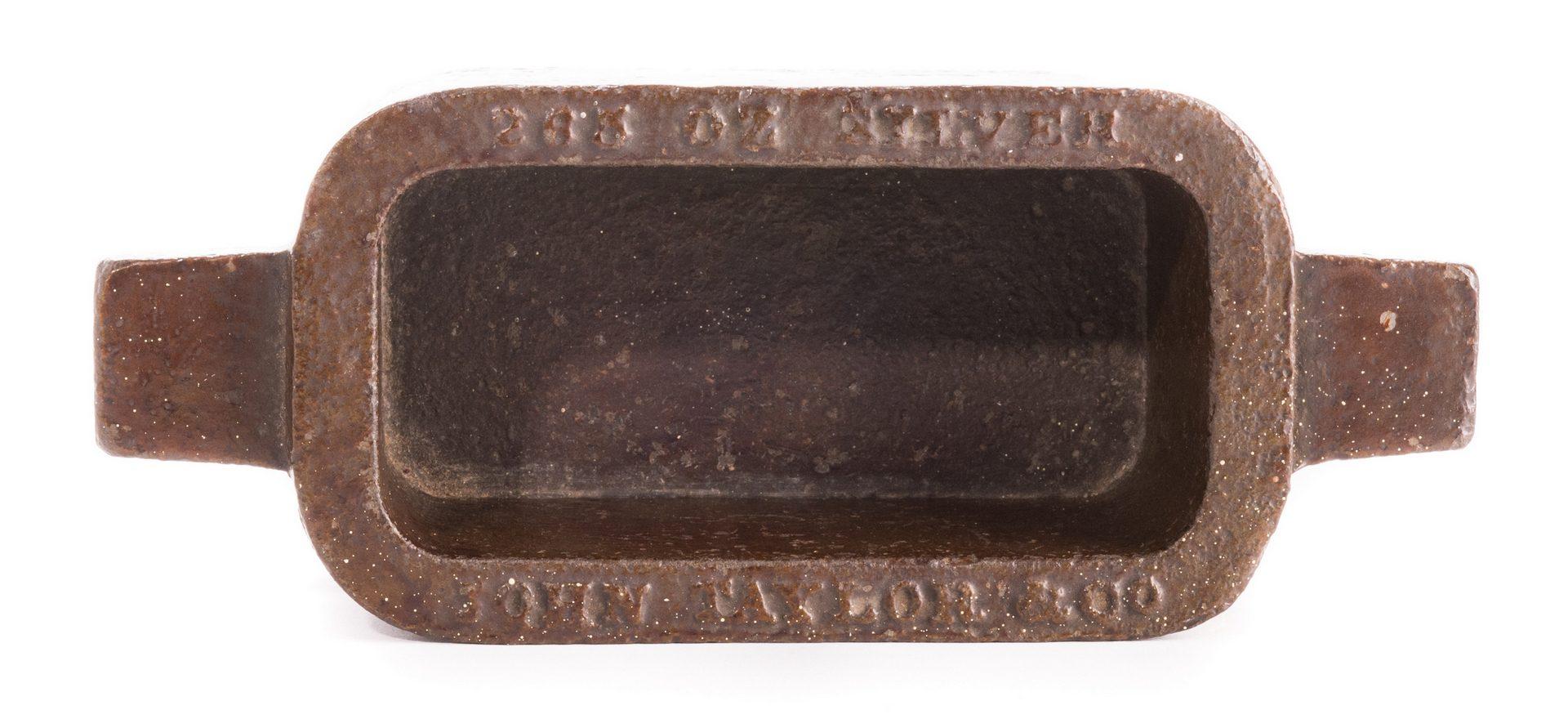 Lot 706: John Taylor & Co. Silver Ingot Mold