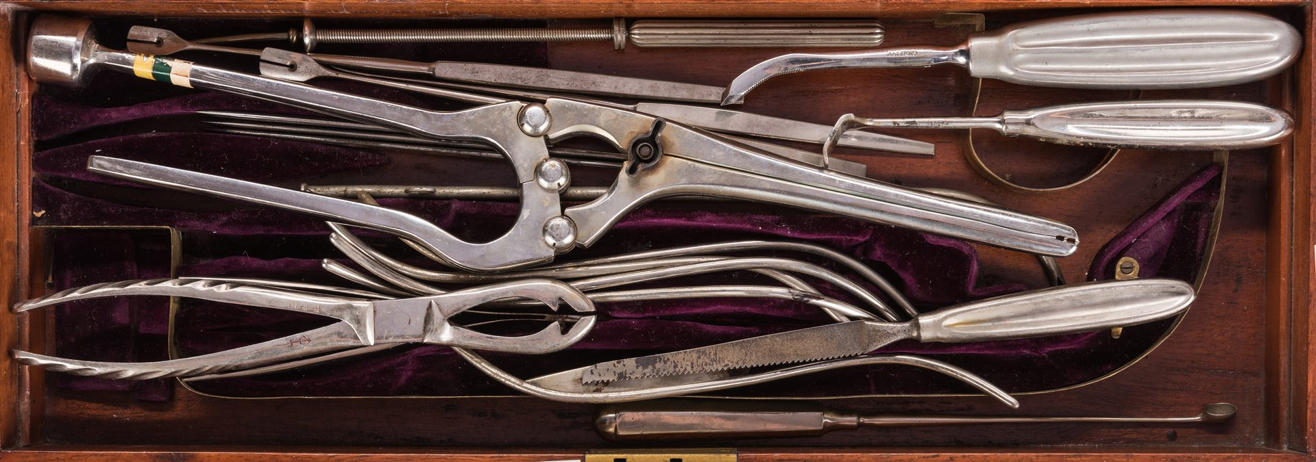 Lot 708: English Medical Case w/ 4 Engravings