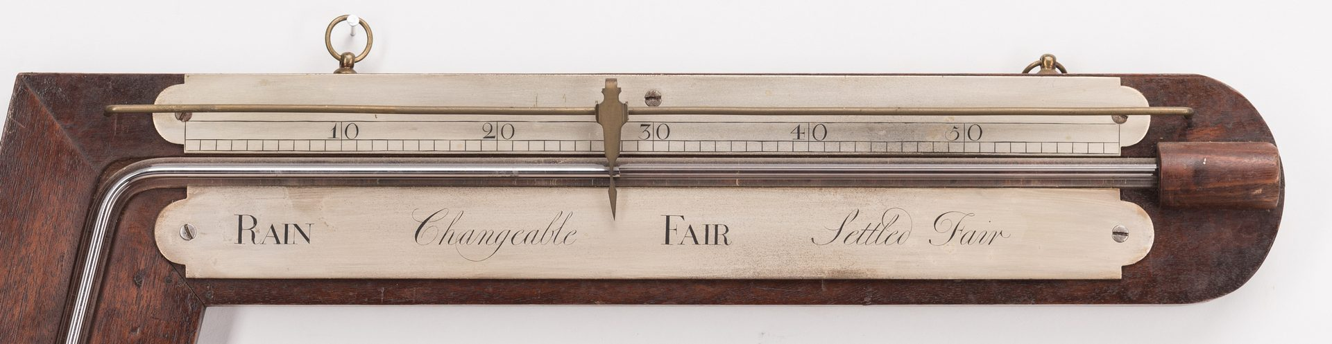 Lot 710: English Angle or Sign Post Barometer