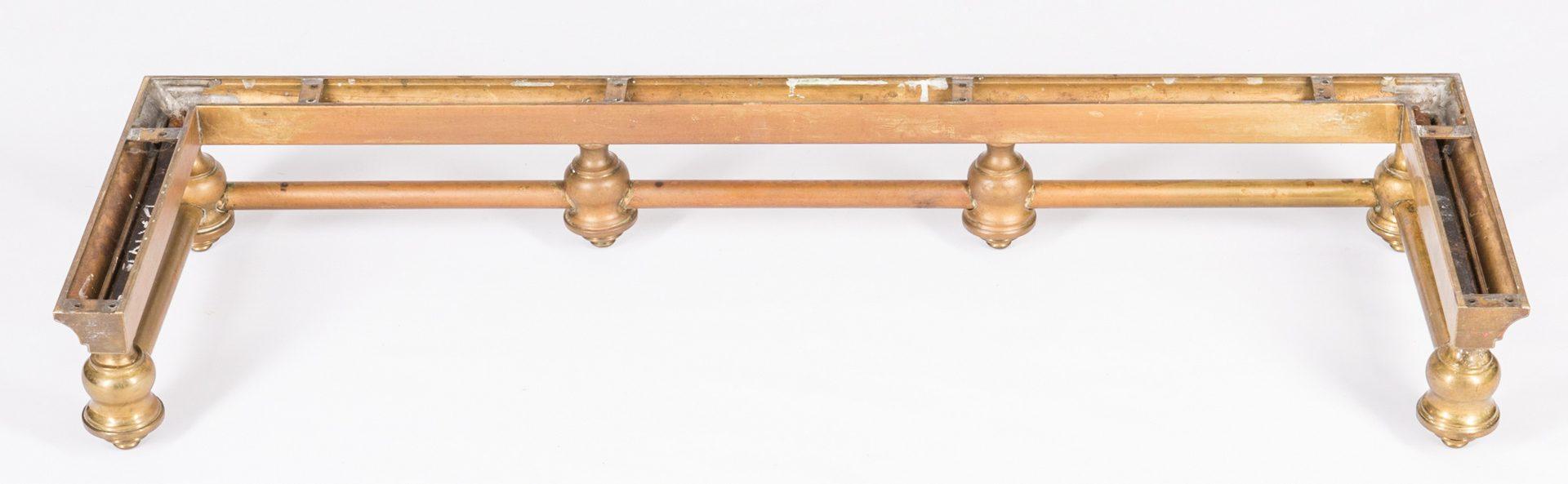 Lot 713: 3 Brass Fireplace Fenders