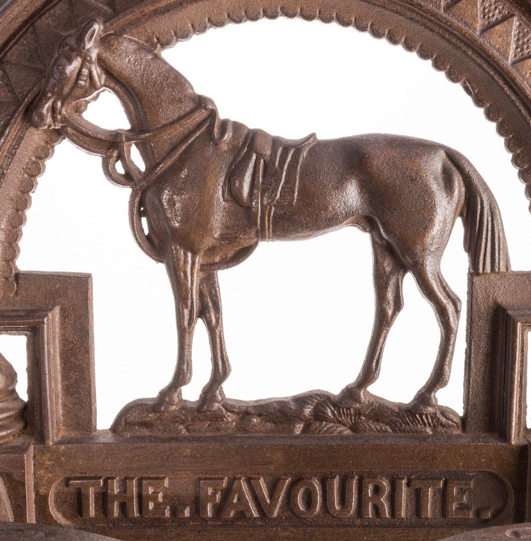 Lot 714: Victorian Cast Iron Horse Umbrella Stand