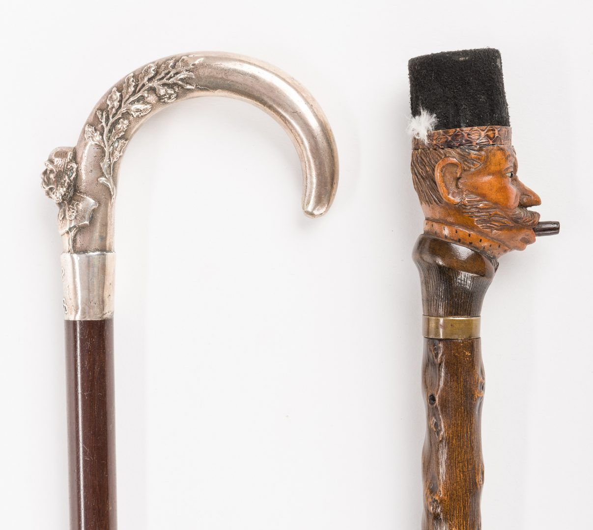 Lot 719: Silver Jubilee Cane and Mechanical Cane, 2 items