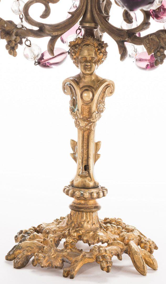 Lot 721: French Gilt Bronze & Amethyst Garniture Set