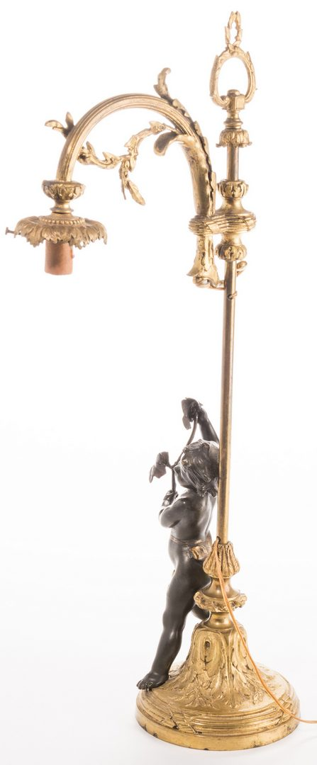 Lot 724: French Neoclassical Bronze Lamp