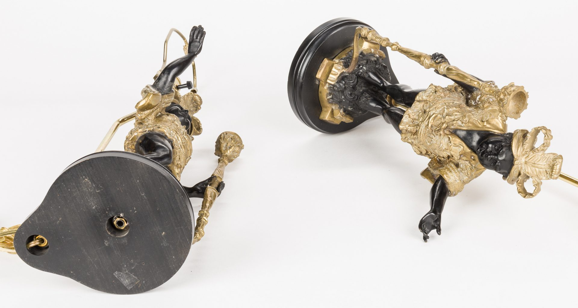 Lot 726: Pair Blackamoor Lamps