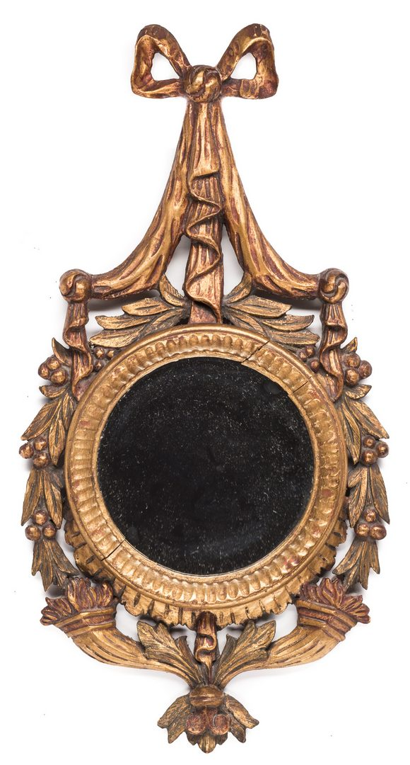 Lot 727: 2 Carved Gilt Wall Hangings, inc. Mirror