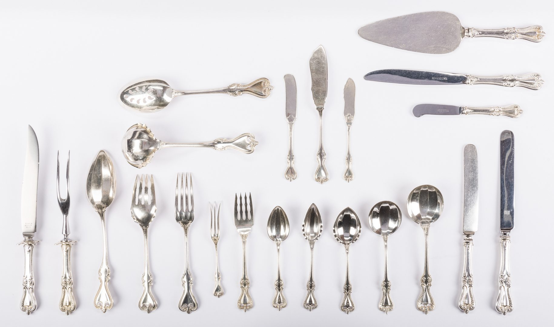 Lot 72: Towle Old Colonial Sterling Flatware, 97 pcs