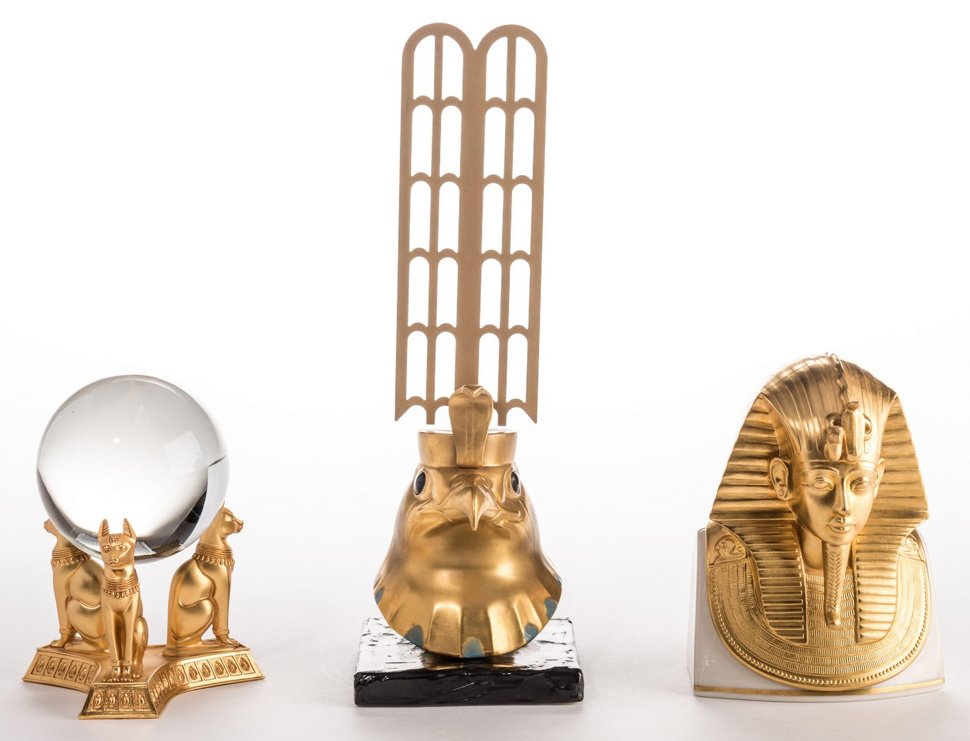 Lot 730: 3 King Tut – Egyptian Style Pieces