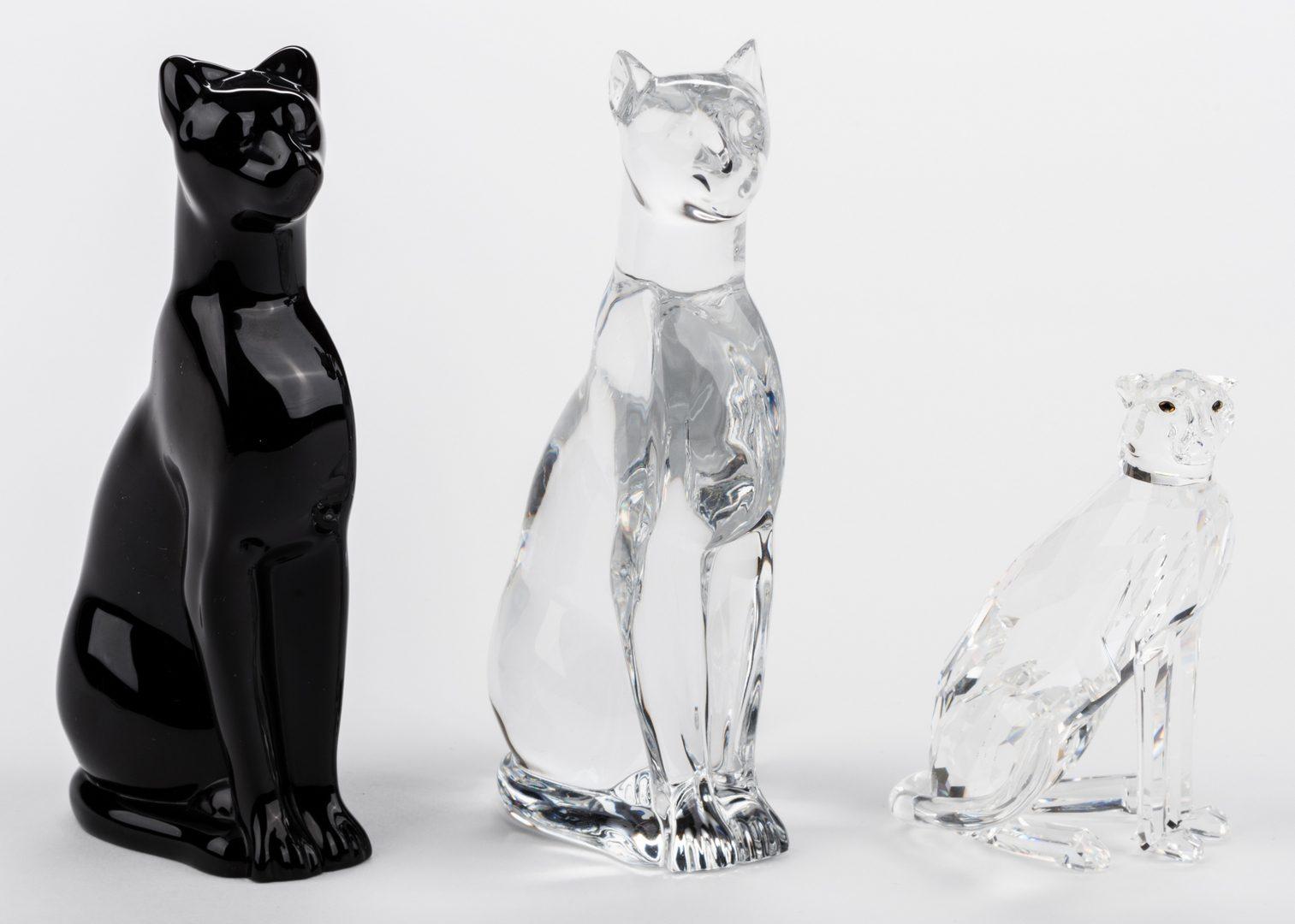 Lot 731: 2 Baccarat Panthers & Swarovski Cheetah, 3 items