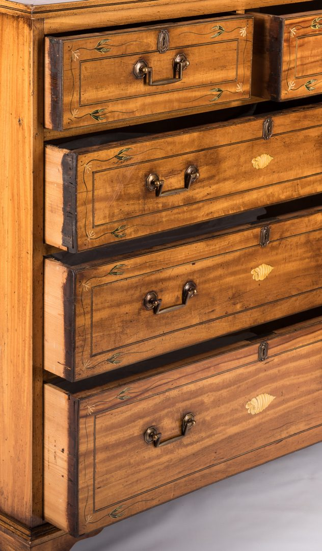 Lot 733: Edwardian Paint Decorated Chest