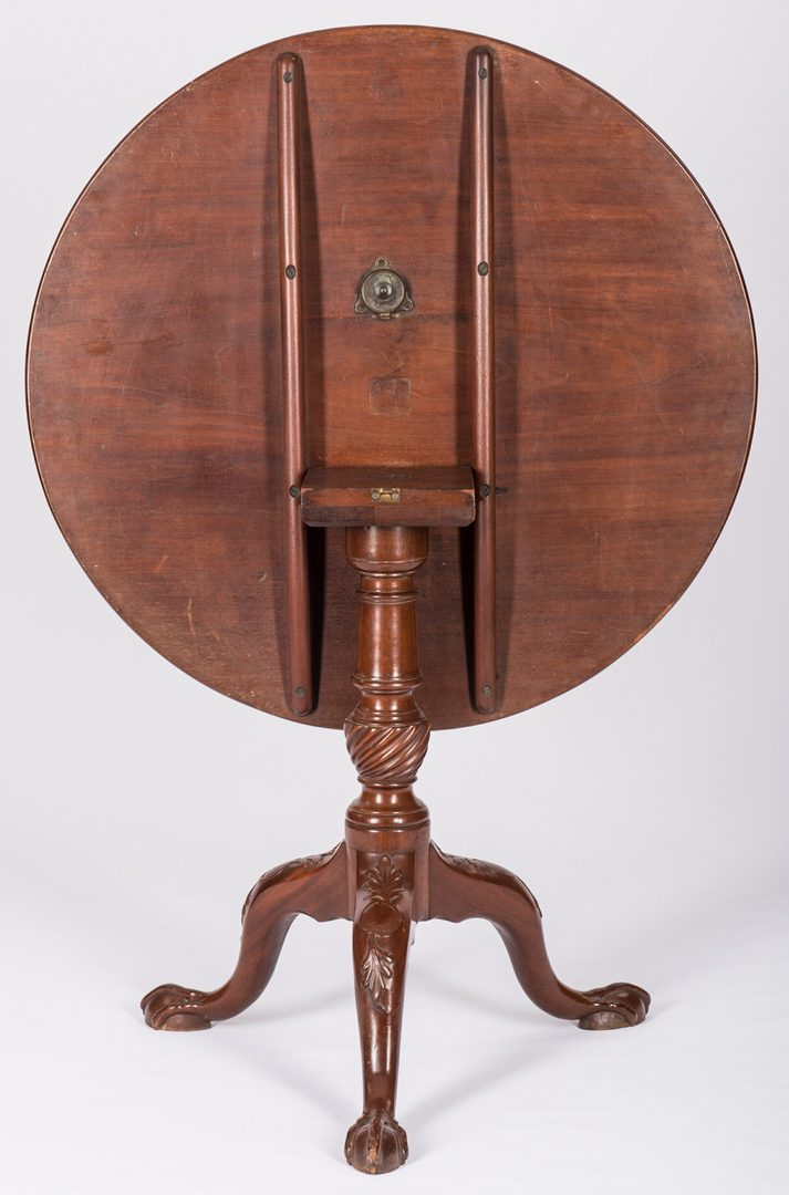 Lot 736: 18th Century Mahogany Tea Table, English