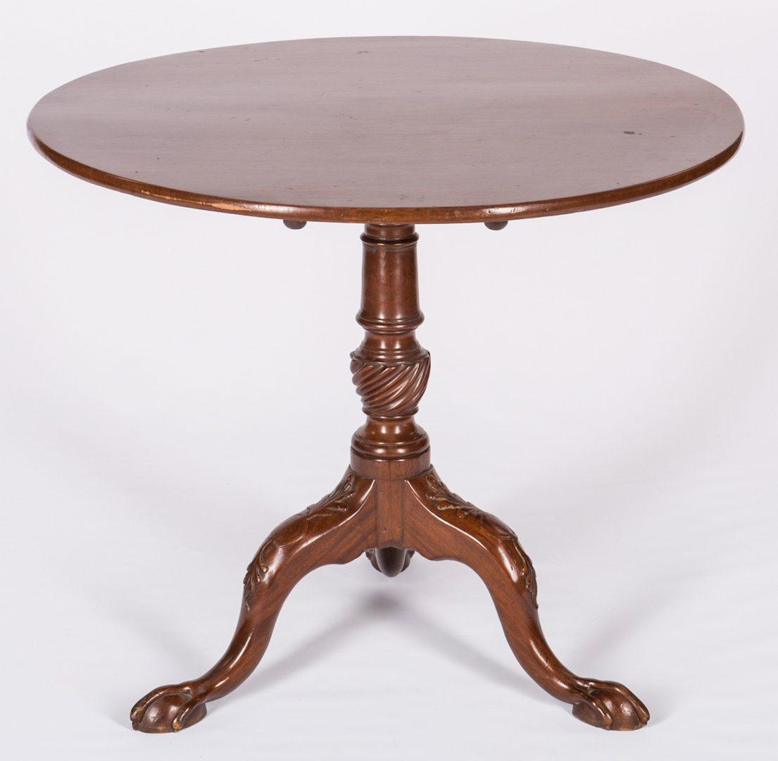 Lot 736: 18th Century Mahogany Tea Table, English