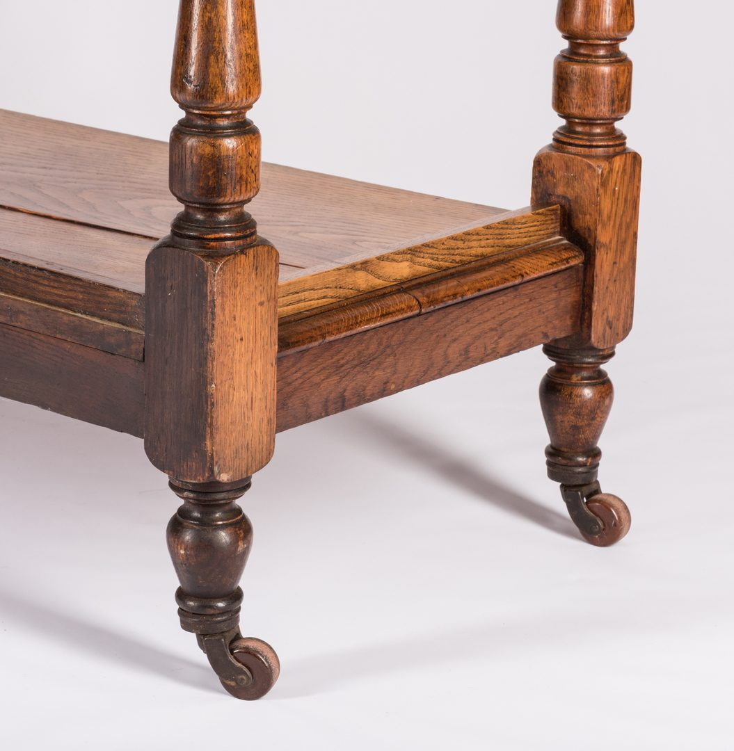 Lot 738: English Oak 3-Tiered Etagere, 19th c.