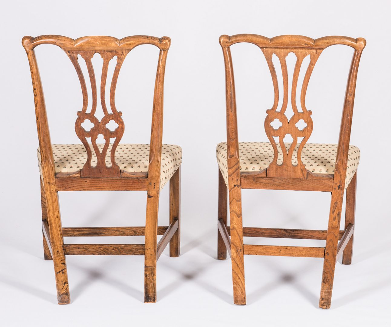Lot 739: 5 English 18th Century Dining Chairs
