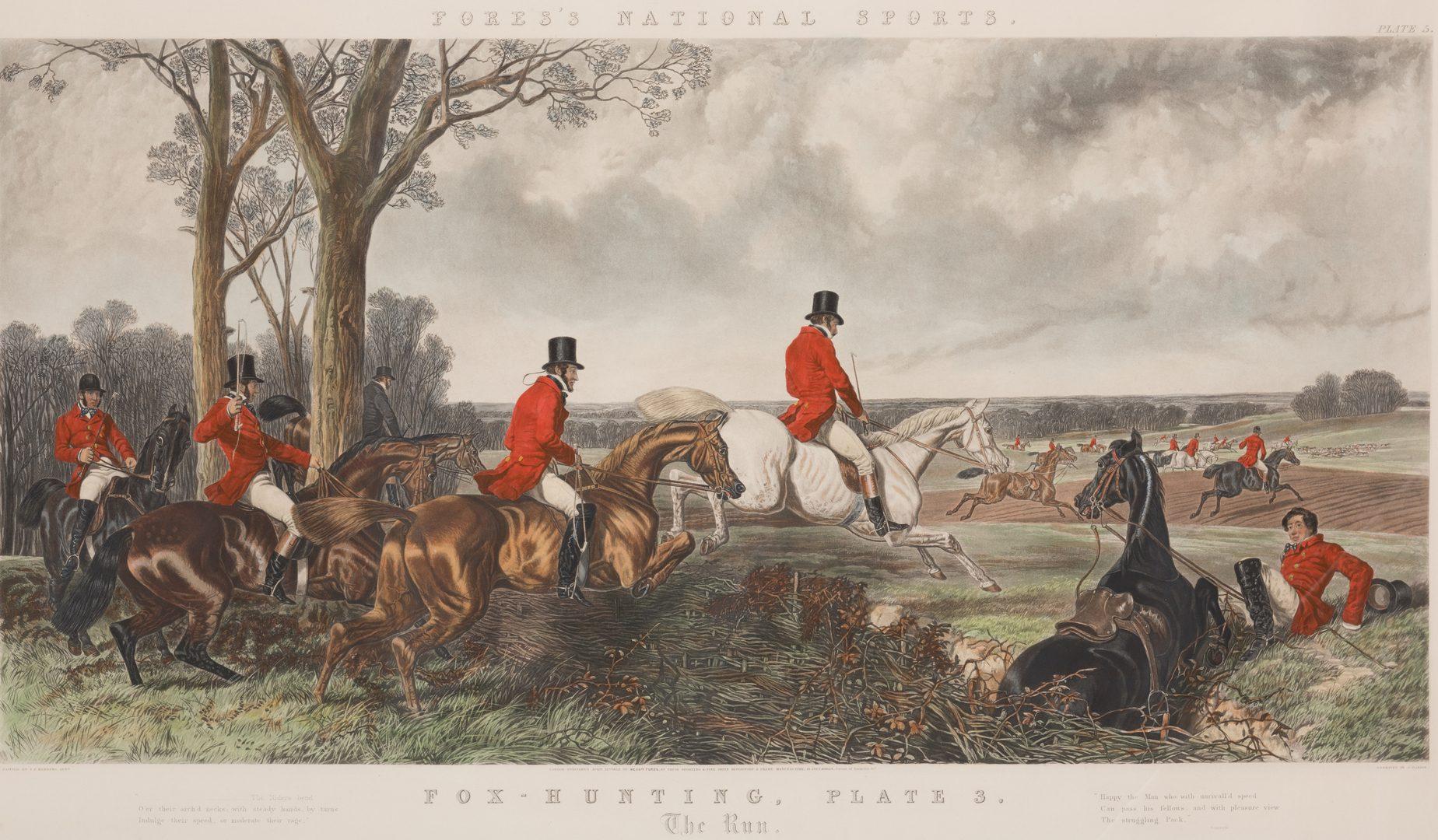 Lot 740: 4 English Hunt Scenes after Herring, framed