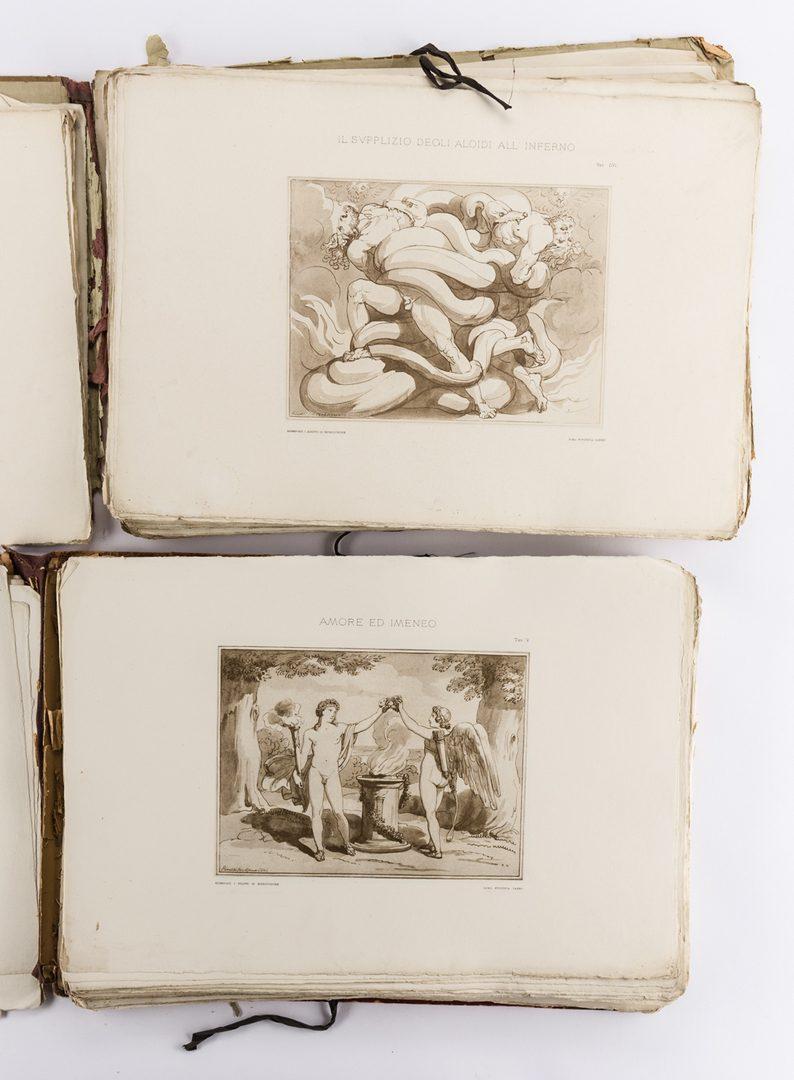 Lot 748: 2 vols. Pinelli lithographs, 1896