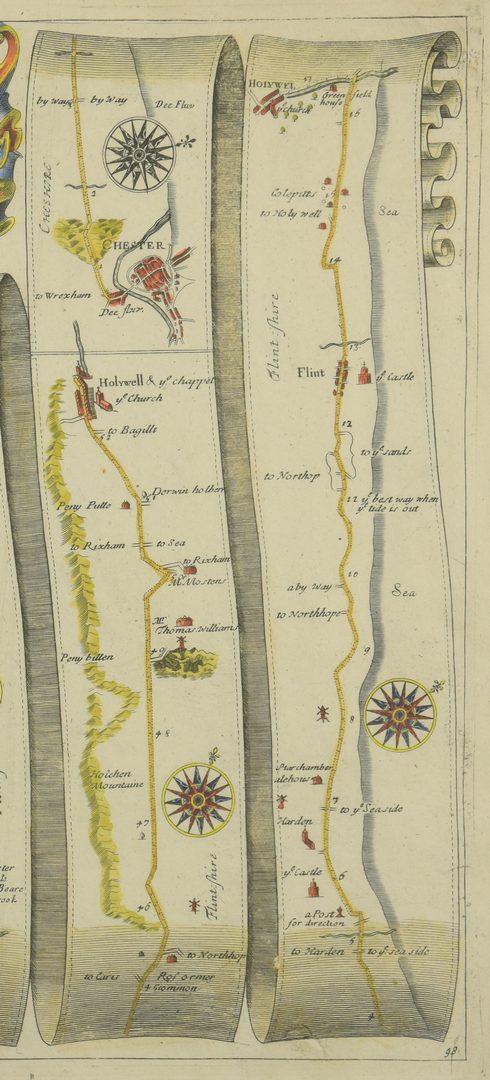 Lot 751: 4 English Maps & Engravings