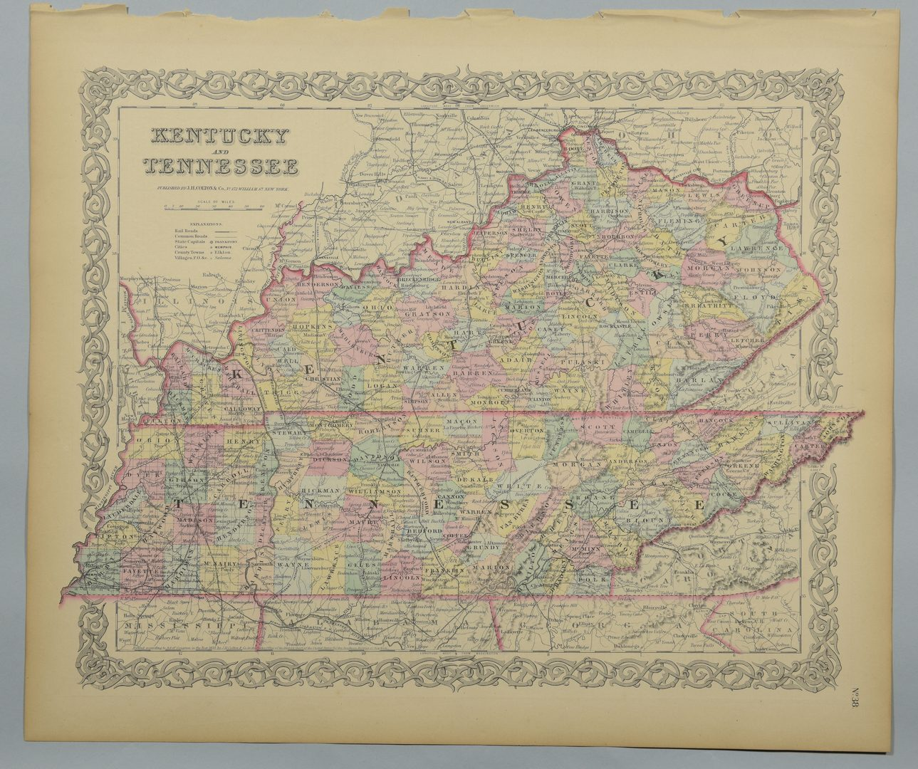 Lot 754: 4 19th Cent. TN & KY Maps