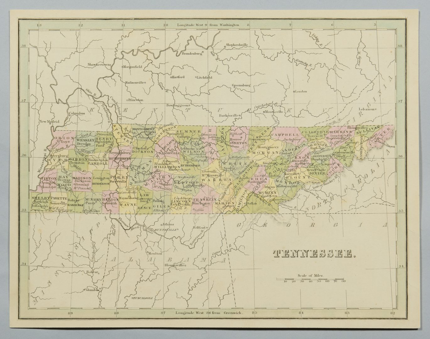 Lot 755: 4 19th cent. TN & KY Maps