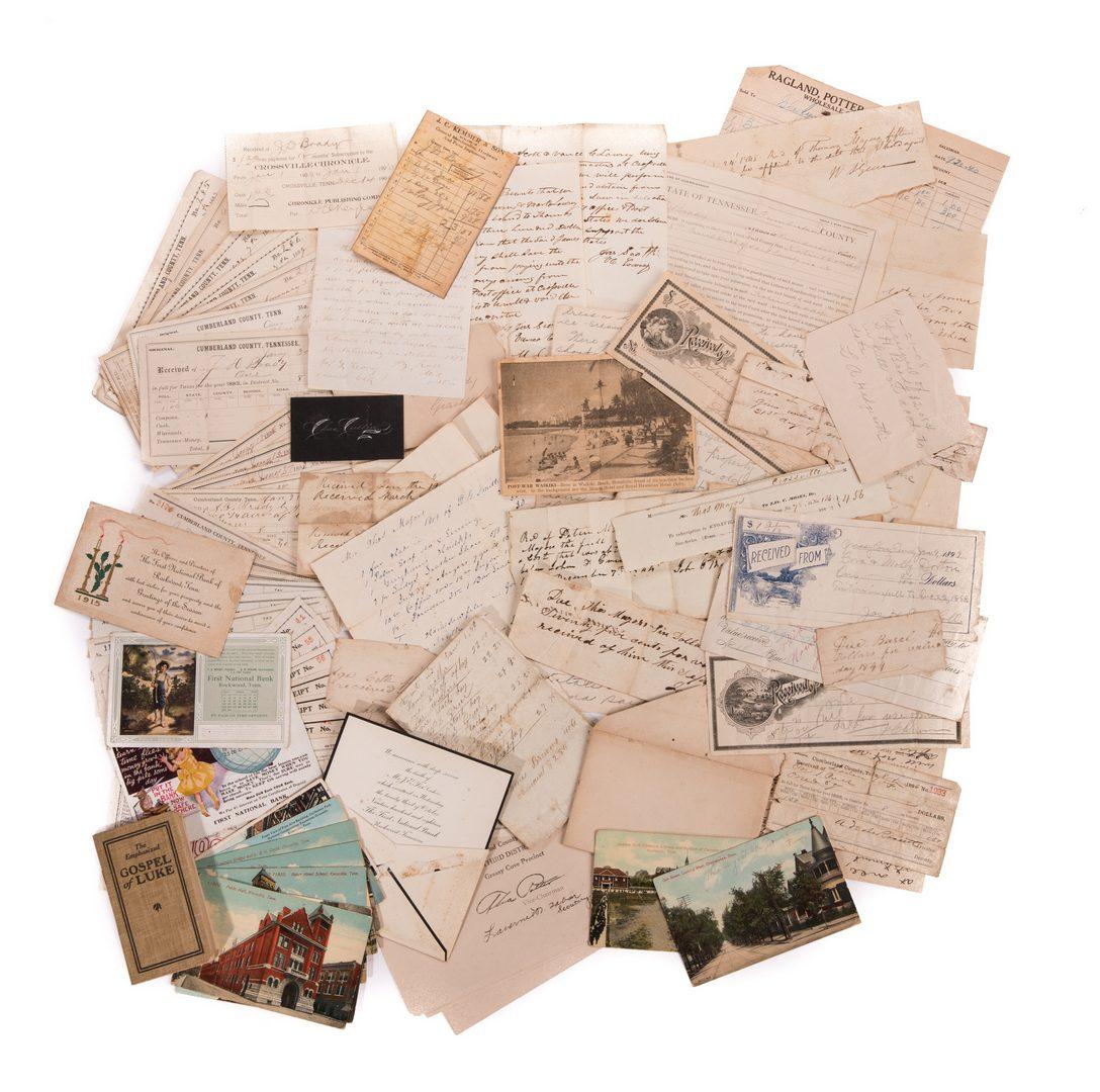 Lot 759: Large East TN Major Family Archive, 100 plus items