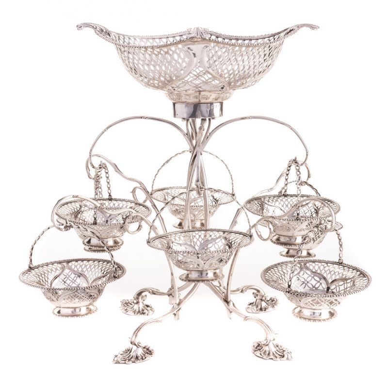 Lot 75: George III Sterling Silver Epergne