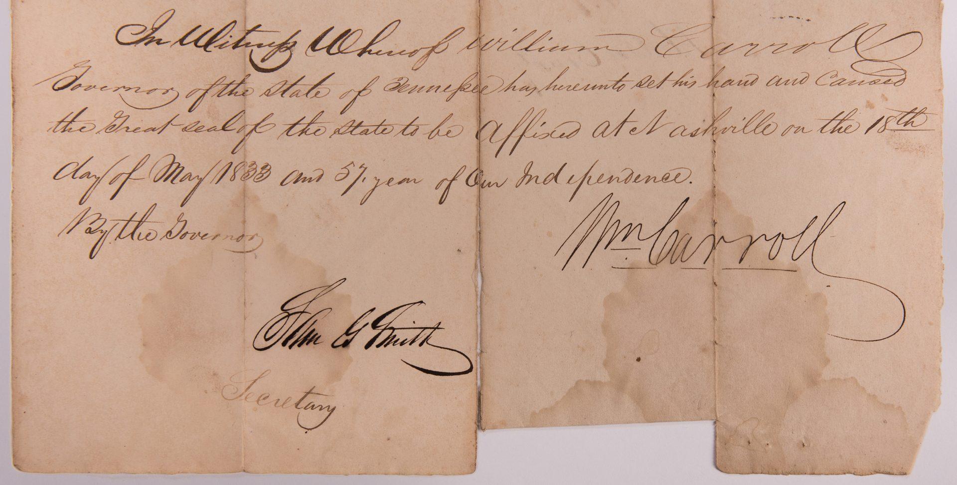 Lot 760: 11 TN Land Documents, inc. Carroll, Cannon
