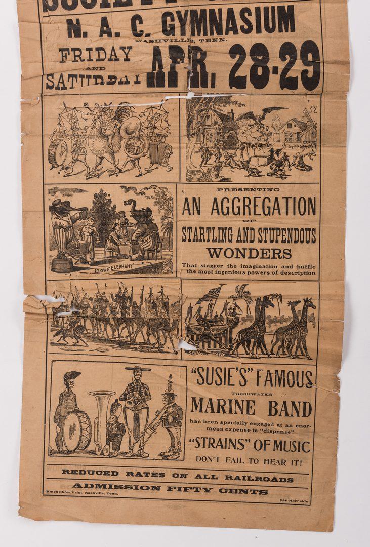 Lot 764: TN Circus Broadside & German Newspaper, 2 items